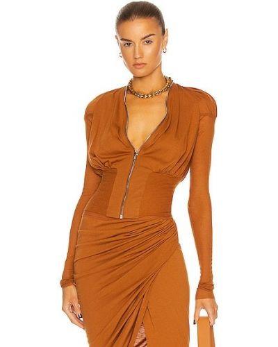 Оранжевая ватная куртка на молнии Rick Owens Lilies