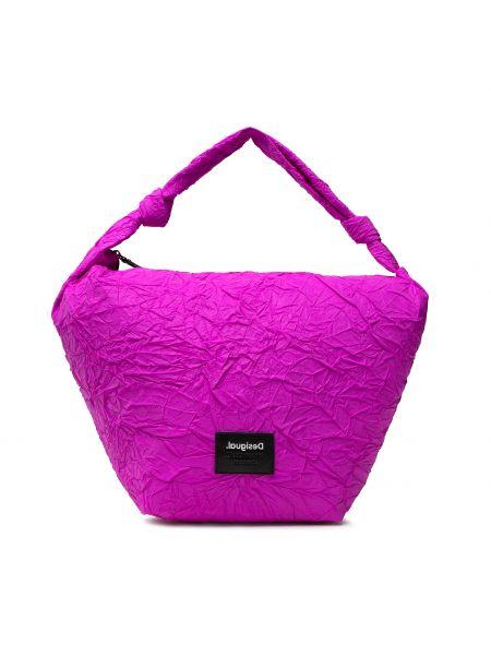 Klasyczna torebka - różowa Desigual