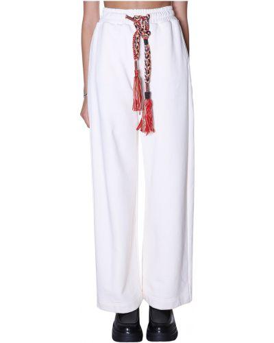 Białe spodnie Dondup