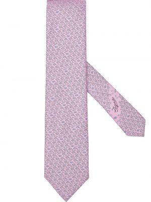 Розовая шелковая резинка для волос Ermenegildo Zegna