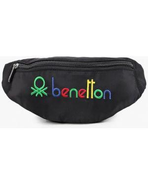 Текстильная черная поясная сумка United Colors Of Benetton