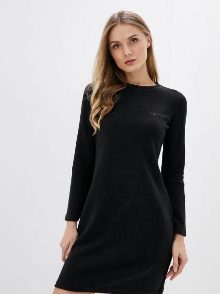 Платье вязаное черное Galvanni