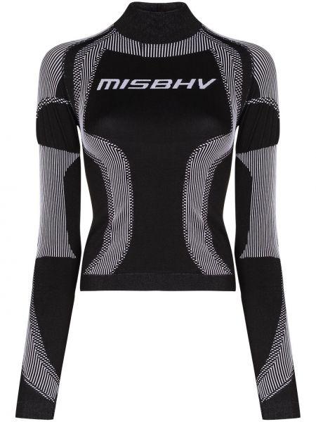 Klasyczny czarny top sportowy z długimi rękawami Misbhv