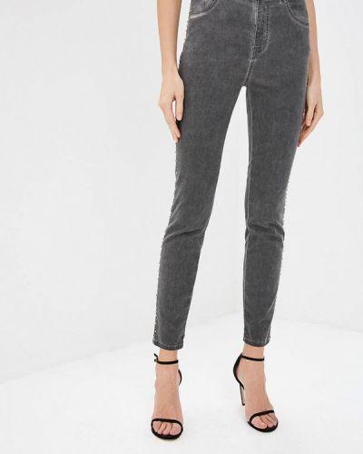 Серые джинсы-скинни Just Cavalli