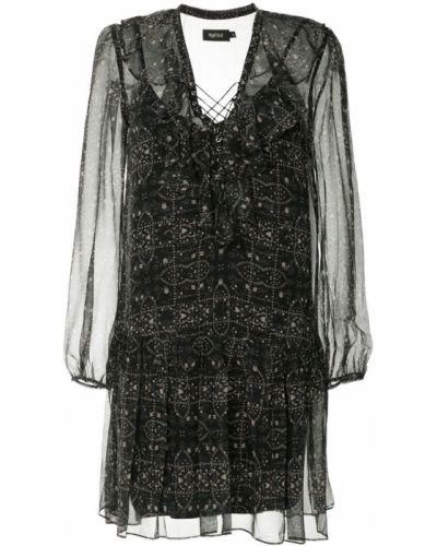 Платье шелковое с прозрачными рукавами Magali Pascal