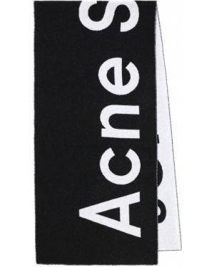 Шерстяной черный шарф Acne Studios