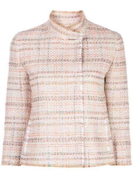 Пиджак твидовый с карманами круглый Akris Punto