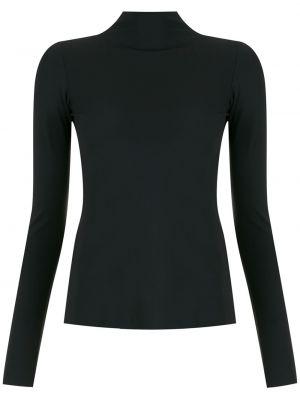 Блузка с воротником - черная Osklen