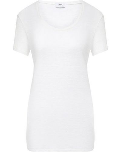 Льняная футболка - белая La Fabbrica Del Lino