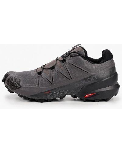 Кожаные черные кроссовки Salomon