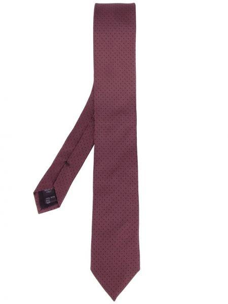 Krawat w grochy - różowy Dolce And Gabbana
