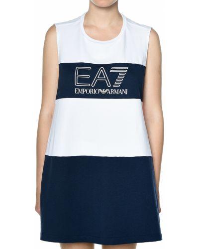 Платье весеннее синее Ea7 Emporio Armani