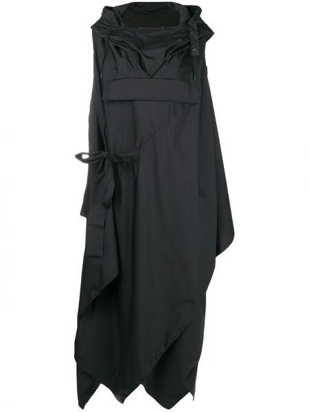 Деловое платье с капюшоном черное Maison Margiela