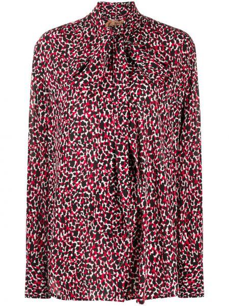 Красная блузка с длинными рукавами из вискозы N°21