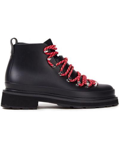 Czarne ankle boots koronkowe sznurowane Rag & Bone