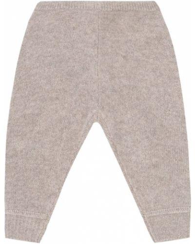Бежевые шерстяные брюки Caramel