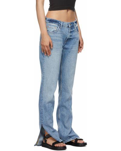 Niebieskie mom jeans z paskiem Grlfrnd