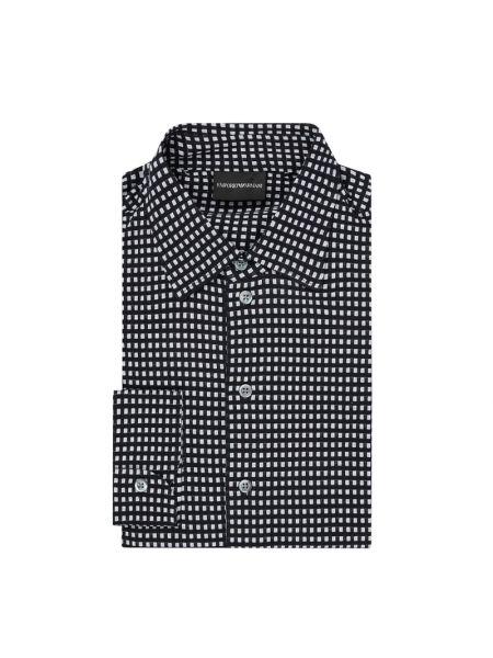 Koszula z długim rękawem w kratę długa Emporio Armani