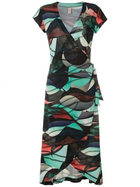 Приталенное платье миди с запахом с V-образным вырезом с короткими рукавами Lygia & Nanny