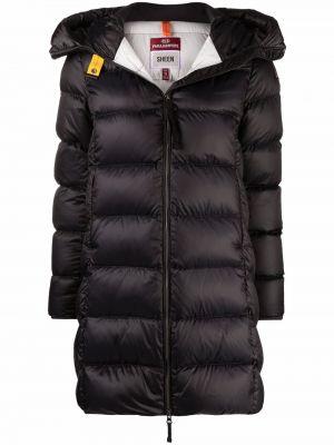 Черное пальто длинное Parajumpers