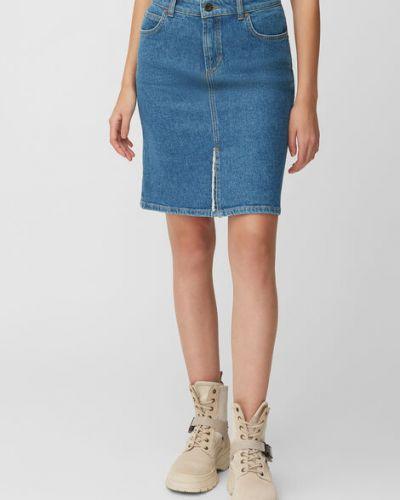 Niebieska spódnica jeansowa bawełniana Marc O Polo
