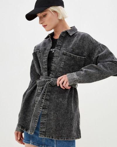 Серая джинсовая рубашка Noisy May