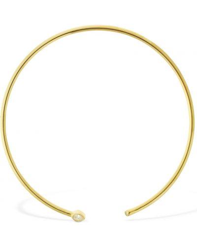 Złoty choker - biały Apm Monaco