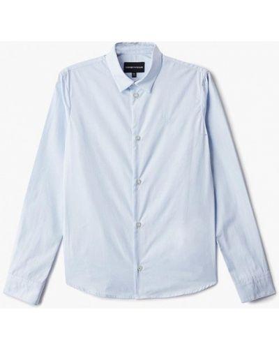 Голубая рубашка Emporio Armani