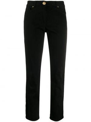 Czarne mom jeans z paskiem Escada