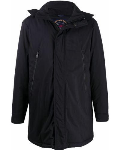 Z rękawami czarny płaszcz przeciwdeszczowy z kieszeniami od płaszcza przeciwdeszczowego Paul & Shark