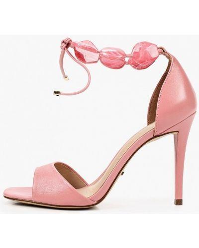 Кожаные розовые босоножки Arezzo