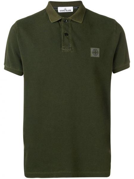 Koszula klasyczna z krótkim rękawem wojskowy Stone Island