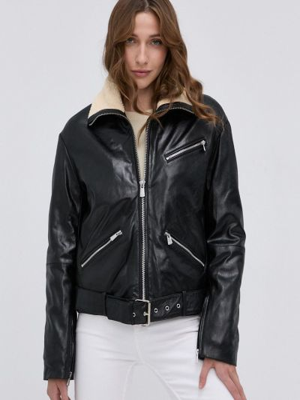 Кожаная куртка короткая Pinko
