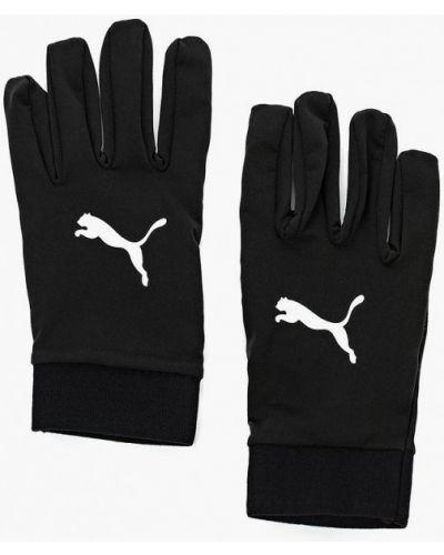 Черные перчатки Puma
