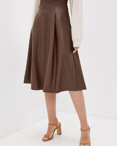Кожаная коричневая юбка Rinascimento