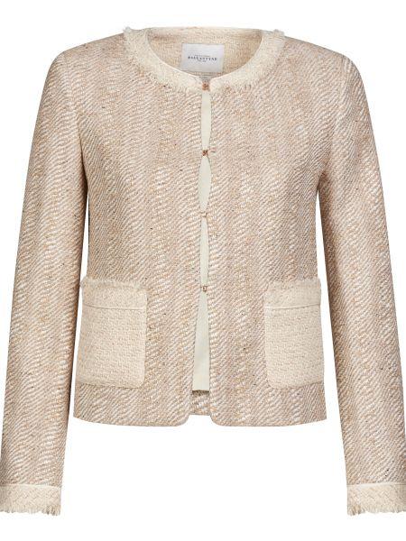Шелковый бежевый пиджак Ballantyne