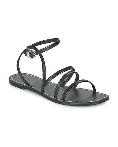 Czarne sandały Kickers