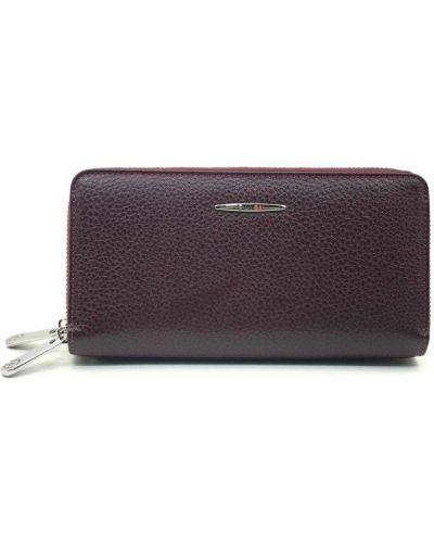 Кожаный портмоне - бордовый Eminsa