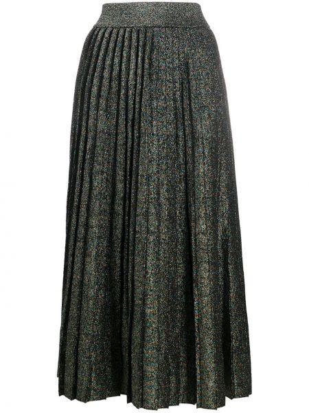 Wełniany pofałdowany czarny spódnica midi A.l.c.