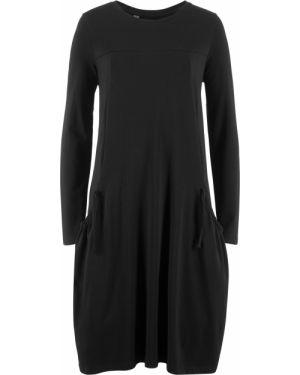 Платье оверсайз - черное Bonprix