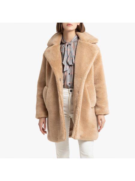 Пальто плюшевое на кнопках La Redoute