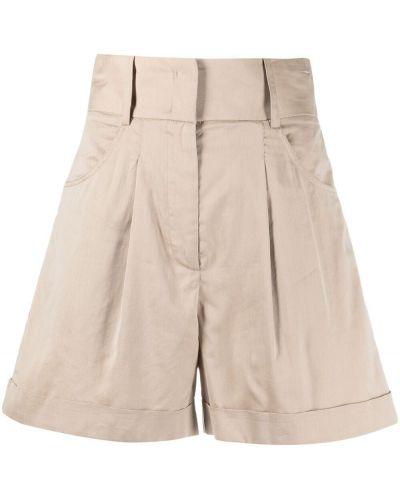 Хлопковые с завышенной талией шорты с карманами Federica Tosi