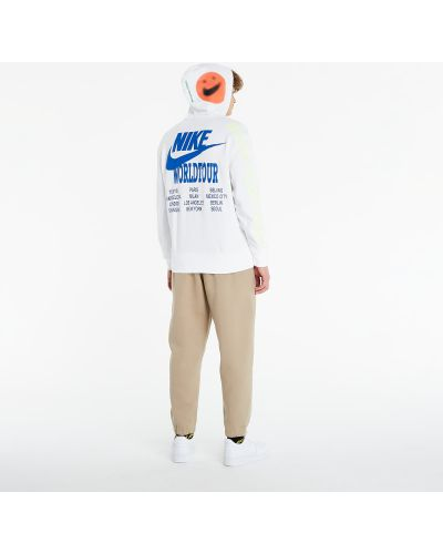 Biały pulower Nike