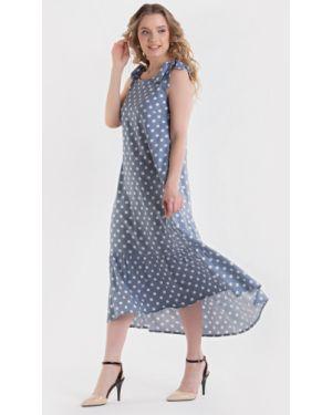 Летнее платье на бретелях из штапеля без рукавов с завязками Filigrana