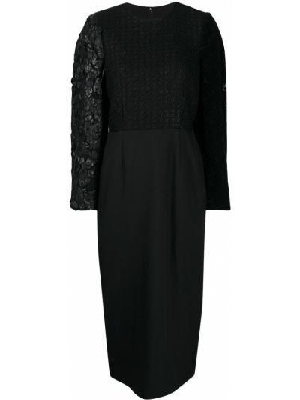 Платье макси длинное - черное Comme Des Garçons