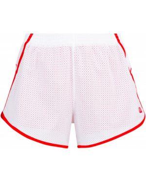 Прямые компрессионные белые теннисные спортивные шорты Wilson