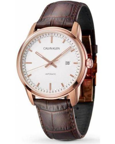 Zegarek na skórzanym pasku Calvin Klein