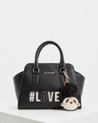 Кожаный сумка с ручками Love Moschino