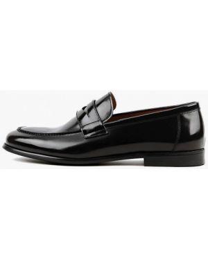 Черные лаковые кожаные лоферы Leberdes