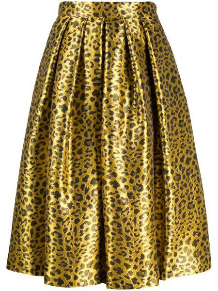 Żółta spódnica z printem Ultrachic
